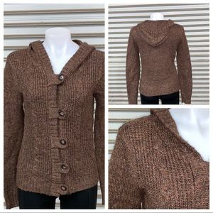 Maurice's button up sweater with hood size medium